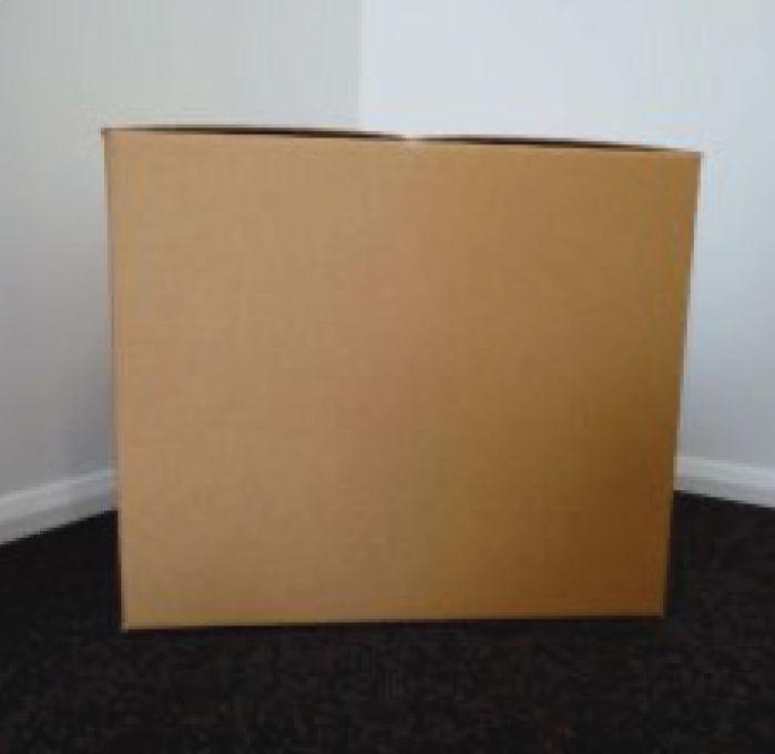 Large closed cube box